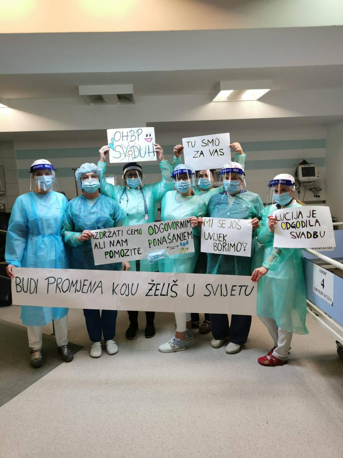 Medicinari: 'Mi se još borimo. Izdržat ćemo, ali pomozite nam odgovornim ponašanjem'