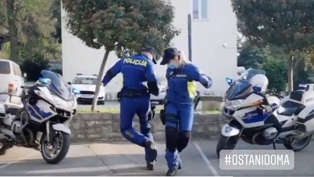 Rasplesali se policajci: 'Rane nas potresi, lome nas korone...'