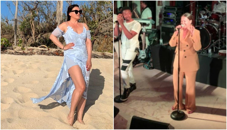 Badrić 'izgorjela' na Karibima i zapjevala s Kool & The Gangom