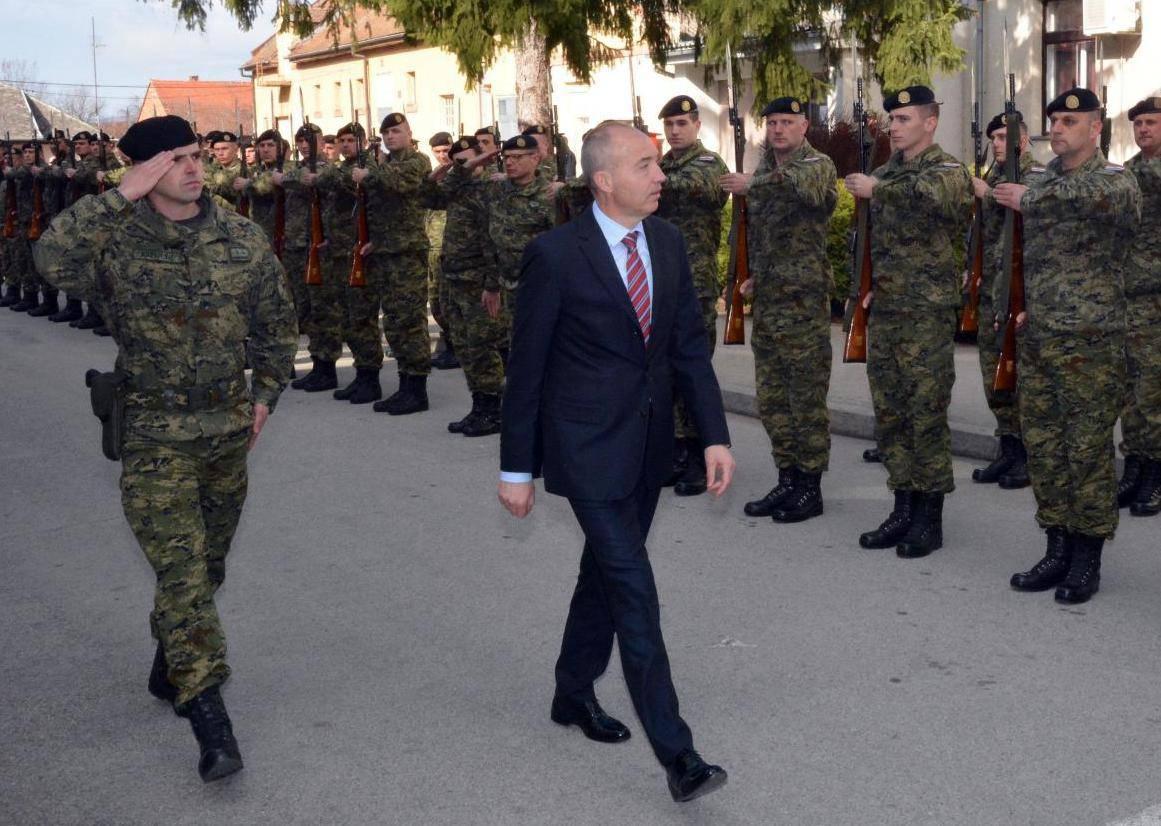 Požega: Svečanost polaganja prisege vojnika u vojarni 123. brigade HV-a 