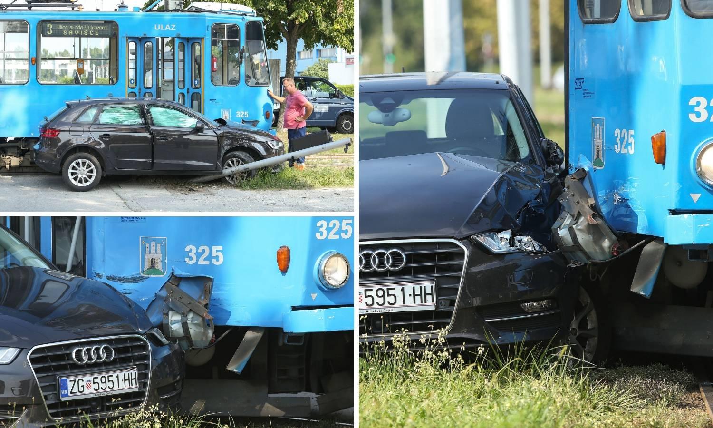 Auto i tramvaj sudarili su se u Zagrebu: 'Audi je skroz skršen'