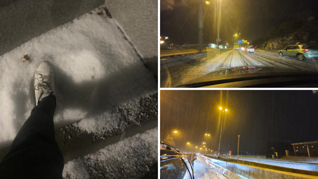 Tuča zabijelila ceste kod Splita, naglo zahladilo na 12 Celzija