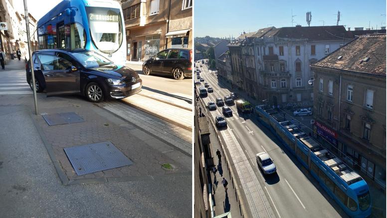 Zastoj u Ilici: Automobilu otpao kotač, sudario se s tramvajem