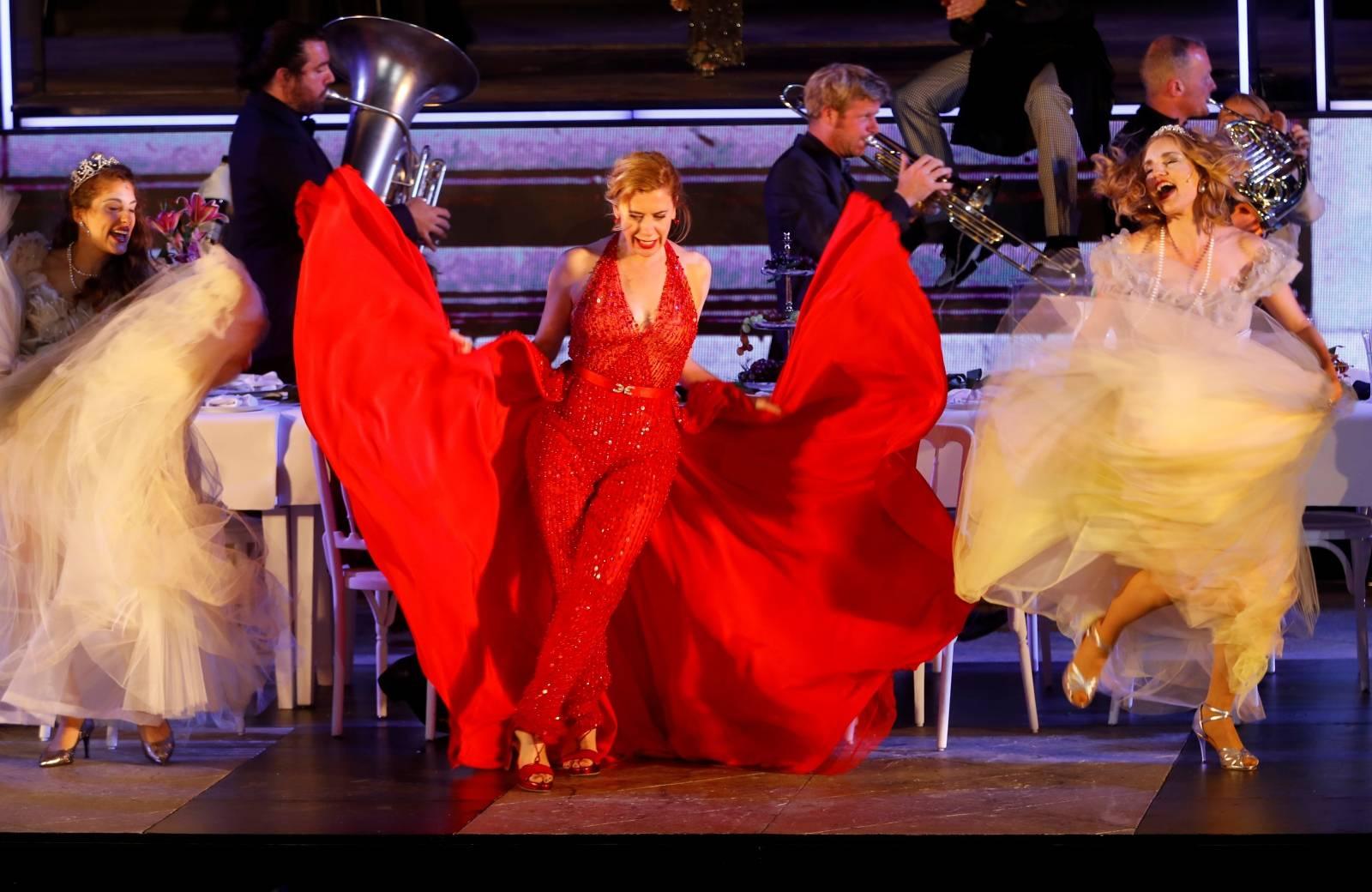 """Dress rehearsal of Hugo von Hofmannsthal's drama """"Jedermann"""" in Salzburg"""