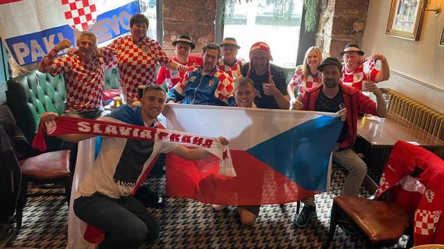 Hrvati i Česi skupa u Glasgowu: Naravno da znamo da je Hajduk osnovan kod nas u Pragu...