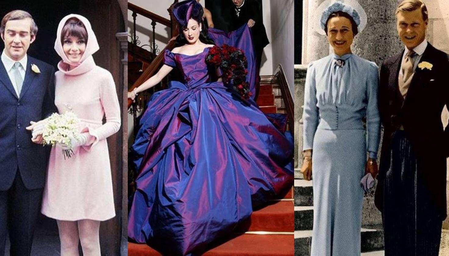 Najneobičnije vjenčanice tijekom povijesti: Od opojno ljubičaste do kostima i bikinija