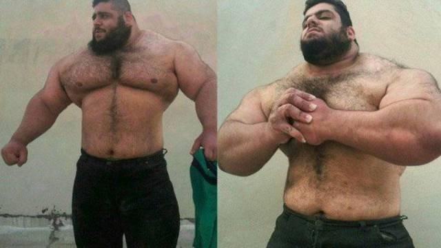 Iranski Hulk ima 156 kilograma samih mišića i jako plahu narav