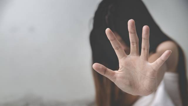despair rape victim waiting for help, Stop sexual harassment and