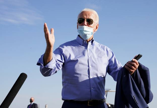 U.S. Democratic presidential candidate Joe Biden campaigns in Las Vegas, Nevada