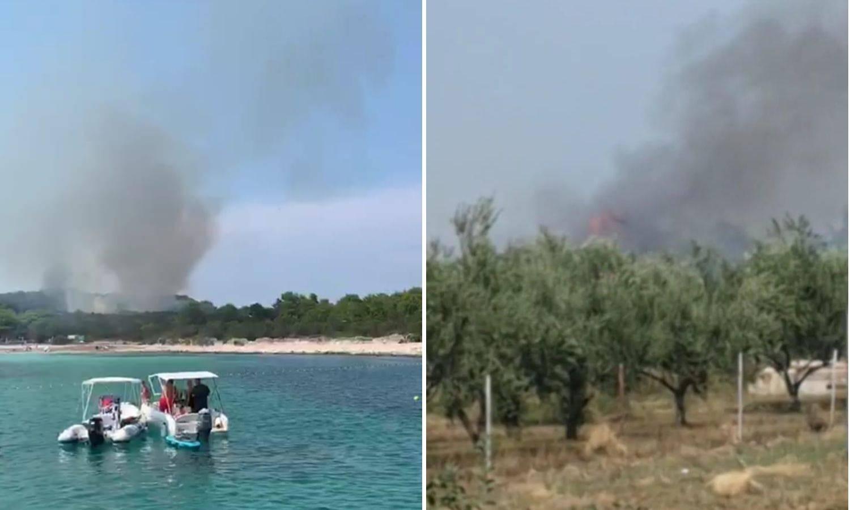 Požar kod Zadra, gori i na plaži Sakarun: 'Došao je blizu kuća!'