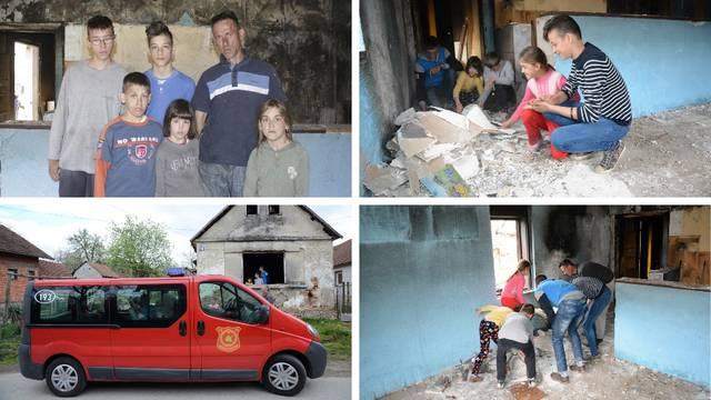 Ocu s petero djece izgorjela je kuća: 'U trenu je sve nestalo'