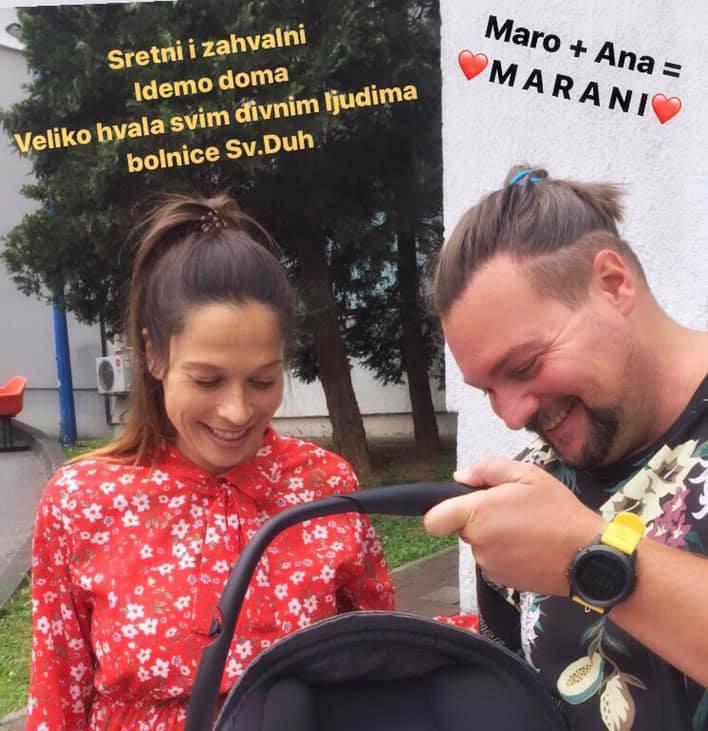 Vlasnik Saloona Maro Srezović stigao je  u rodilište po kćerkicu