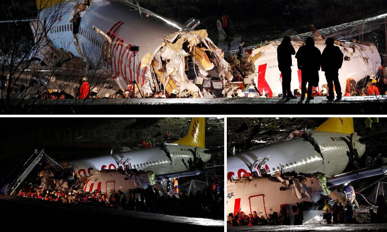 Avion fulao pistu i raspao se: Ozlijeđeno 157, umro 1 putnik
