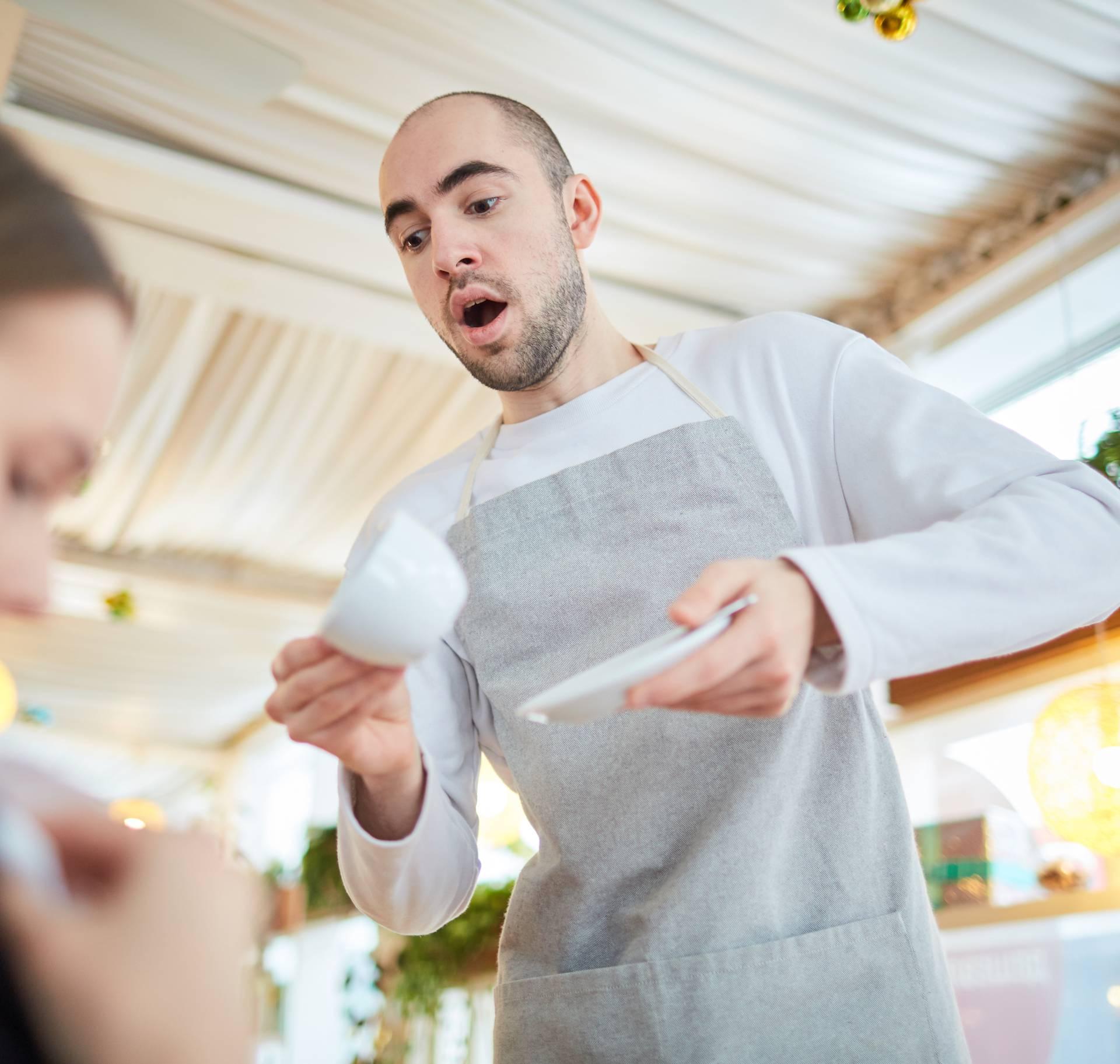 Awkward waiter