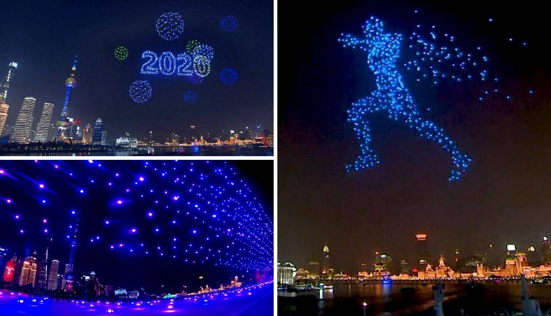Šangaj je u Novu ušao sa 2000 dronova - umjesto vatrometa