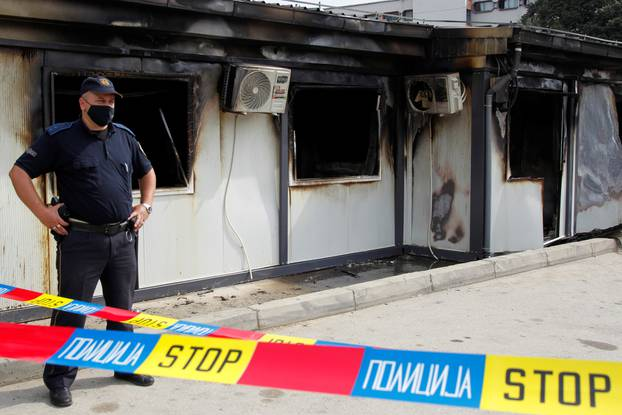 Fire at a hospital for COVID-19 patients, in Tetovo