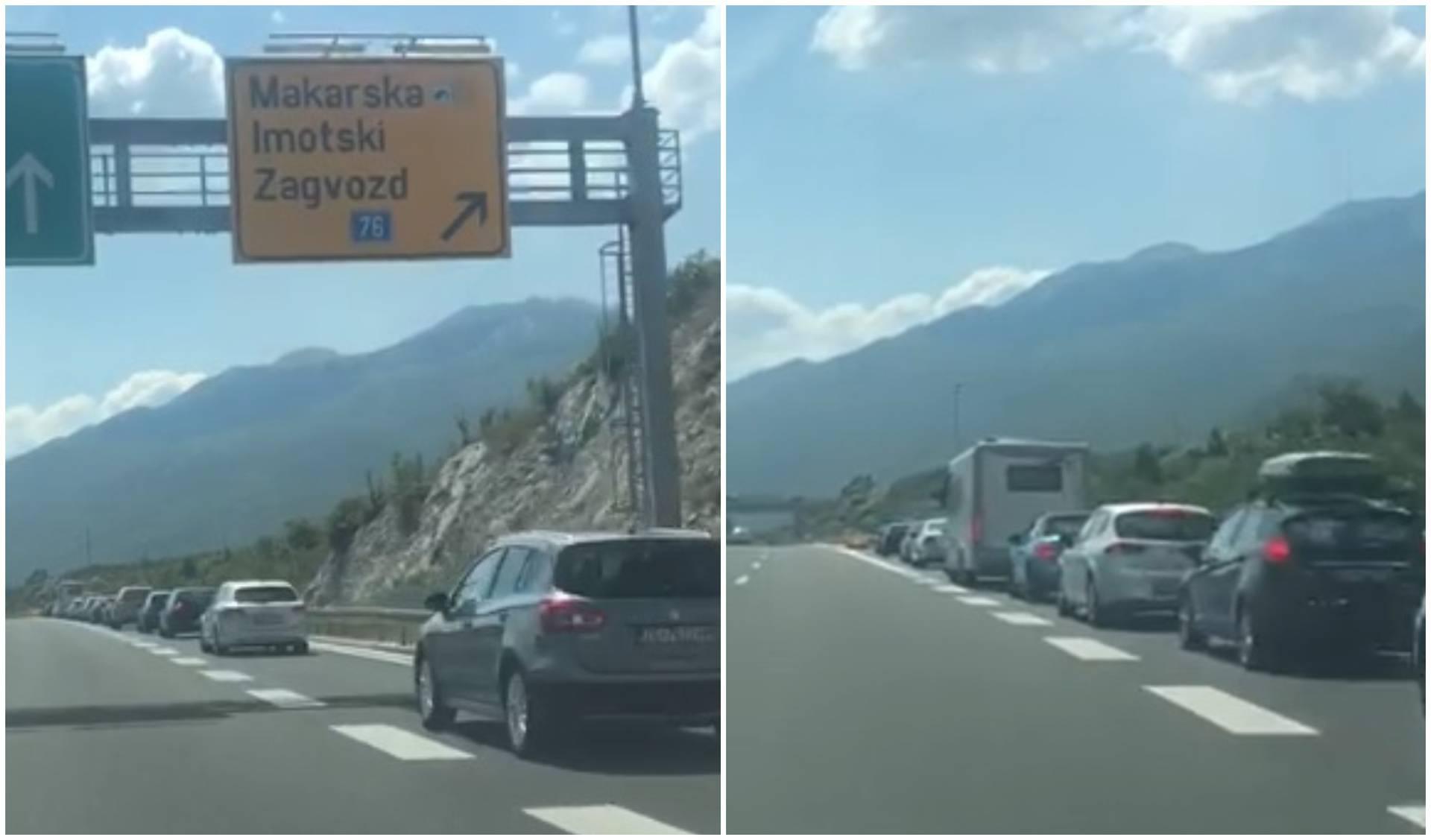 Špica sezone: Na autoputu kraj Makarske nastao 'gužvanac'