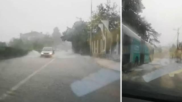 Stiglo nevrijeme: U Međimurju vjetar nosio stabla, u Rijeci poplava, u Vodicama plimni val