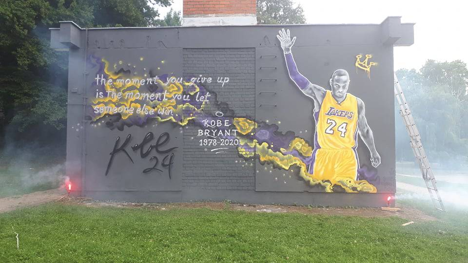 U Križevcima osvanuo mural za Kobeja: Prvi takav u Hrvatskoj