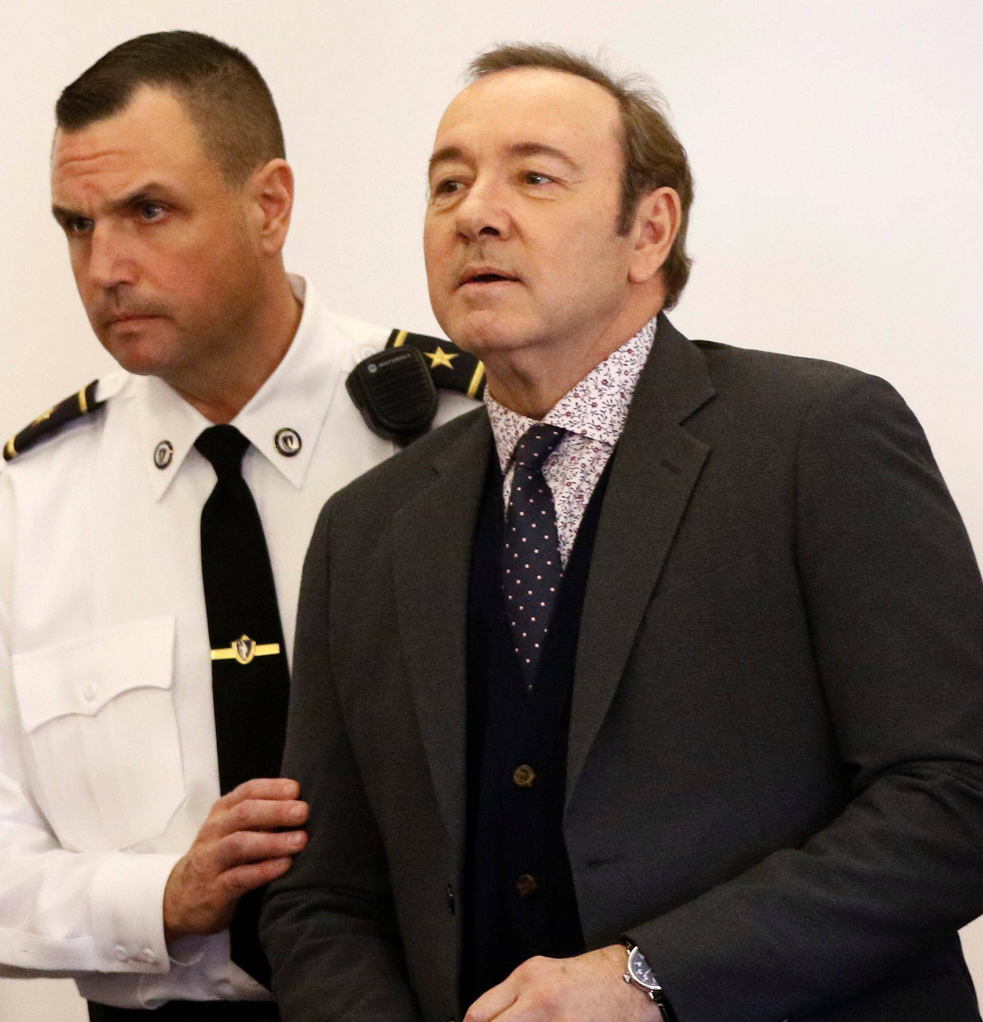 Actor Kevin Spacey is arraigned on a sexual assault charge at Nantucket District Court in Nantucket
