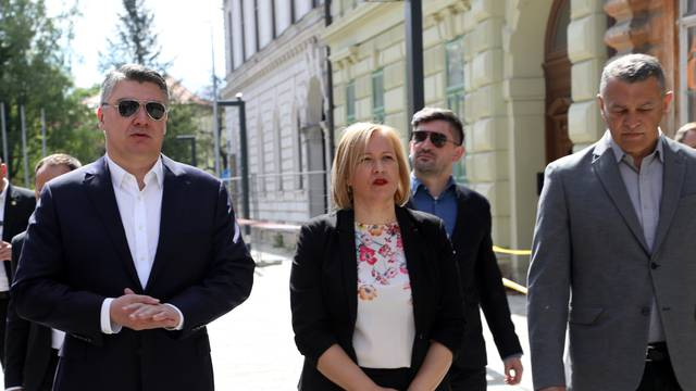 Predsjednik RH Zoran Milanović obišao je Sisak