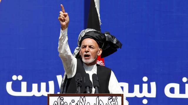 Afghanistan's President Ashraf Ghani, speaks during a gathering in Jalalabad, Afghanistan