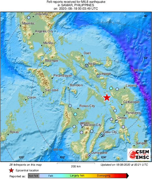 Snažan potres pogodio  Filipine