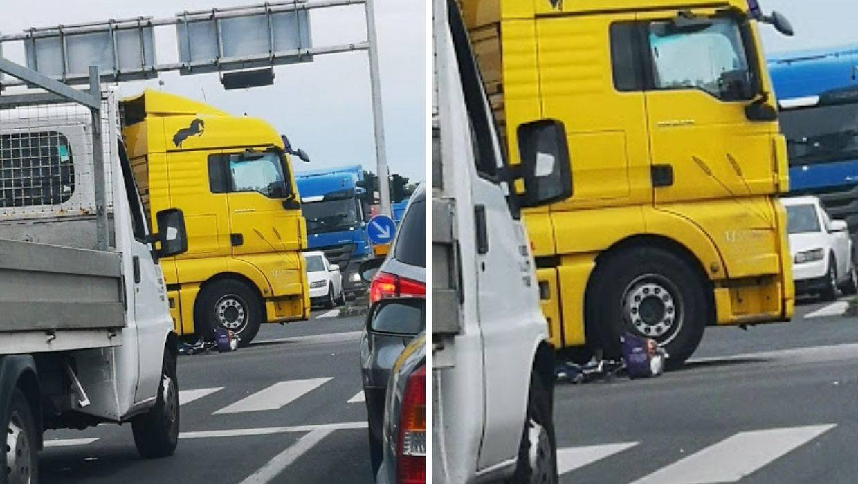 Zagreb: Na križanju Slavonske i Čulinečke kamion pokupio bicikl