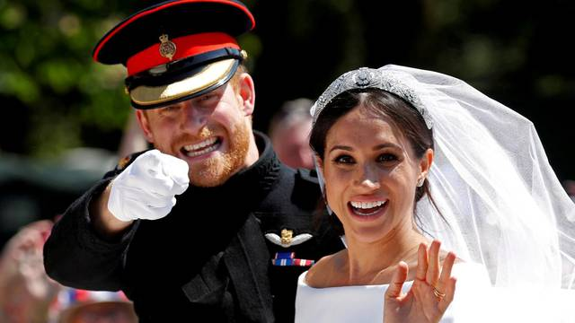 FILE PHOTO: FILE PHOTO: Prince Harry, Queen Elizabeth's grandson, marries U.S. actress Meghan Markle in Windsor