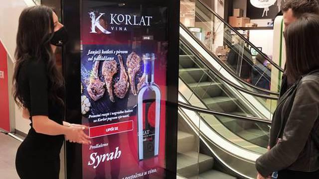 """Prva """"Wine and food paring"""" aplikacija na prodajnom mjestu"""