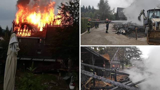 Drama na Plitvicama: U požaru ozlijeđena dvojica vatrogasaca