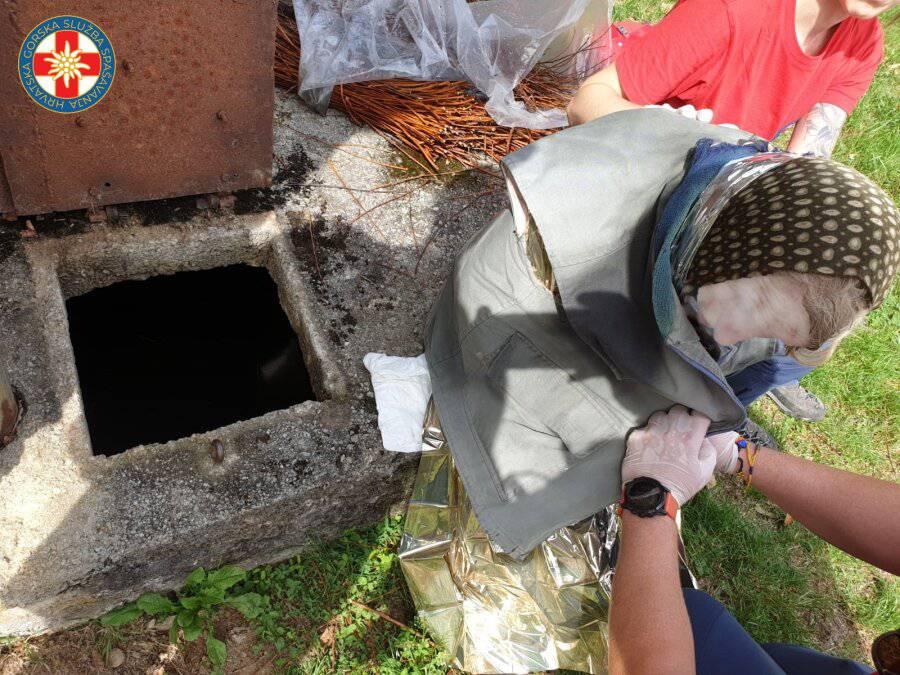 Baka (85) provela noć u cisterni punoj vode: Spasili je HGSS-ovci