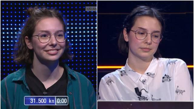 Zadarska učenica briljirala je u Potjeri, no u Milijunašu je zbog kiksa osvojila samo 1.000 kuna