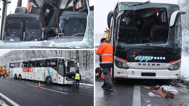 VIDEO Kod Jastrebarskog se prevrnuo autobus, ozlijeđena su dva vozača i šest putnika