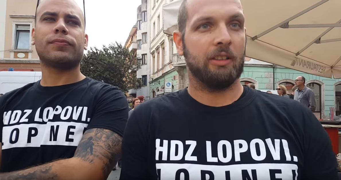 Policija: Skinite majicu 'HDZ lopovi' i nećemo vas privesti!