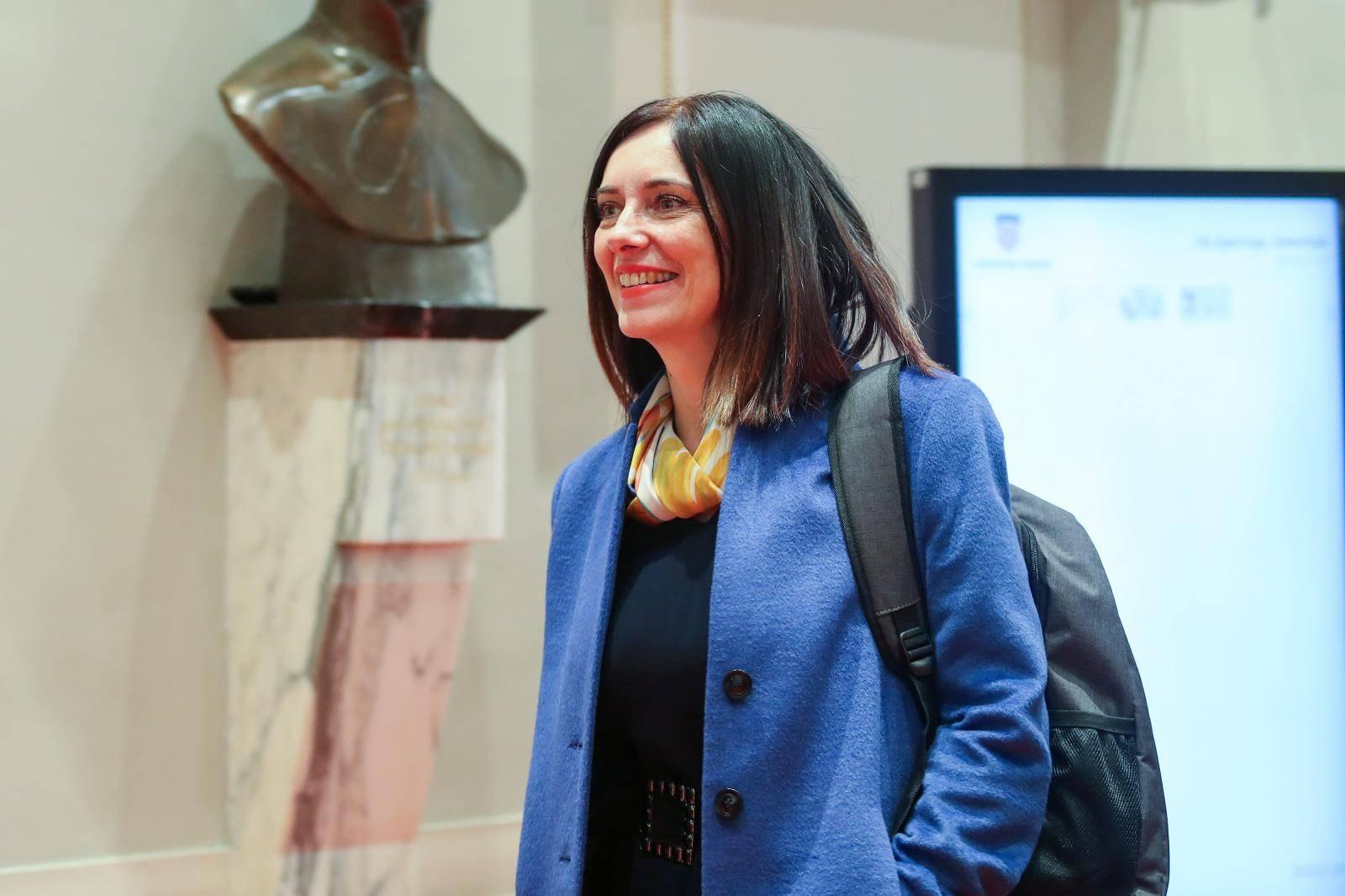 Zagreb: Ministrica Divjak doalzi u Sabor na raspravu o njenom opozivu