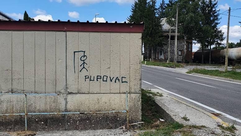 Grafit u Gospiću: Nacrtali su vješalo, ispod piše 'Pupovac'