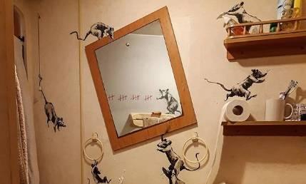 I Banksy radi od doma: Crta po zidu dok mu supruga negoduje!