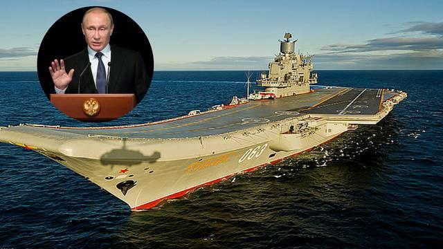 Putin šalje najveći ruski nosač aviona, želi do kraja uništiti IS