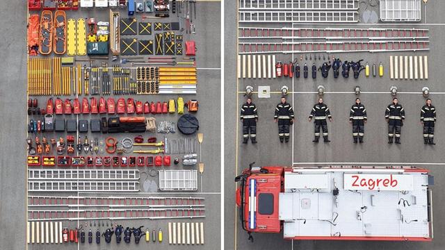 Zagrebački vatrogasci u Tetris izazovu: 'Ovo je naša oprema'