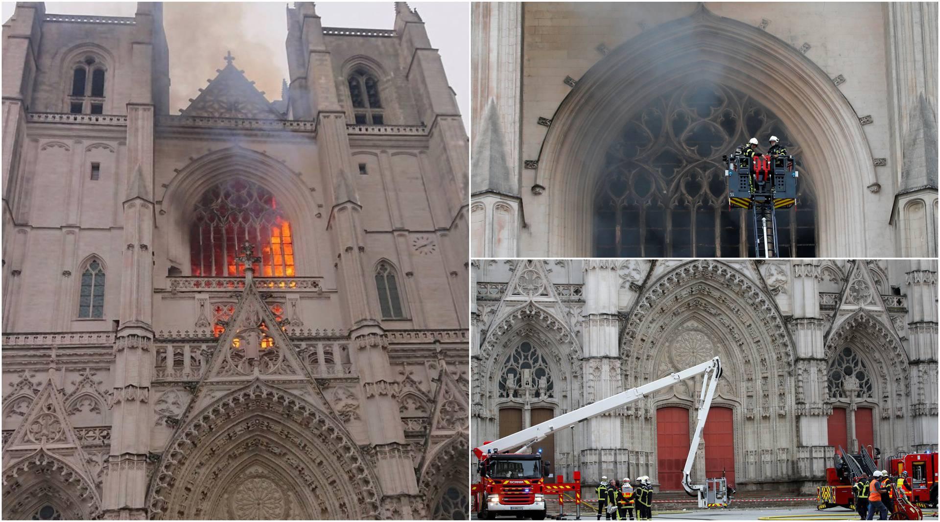 U katedrali buknula tri požara: Vlasti misle da je bio podmetnut