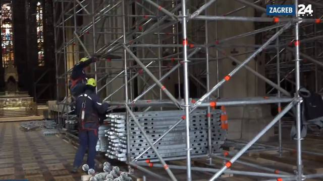 Skele na ulazu u katedralu će stajati barem četiri godine: 'Za vjernike je uskoro otvaramo'