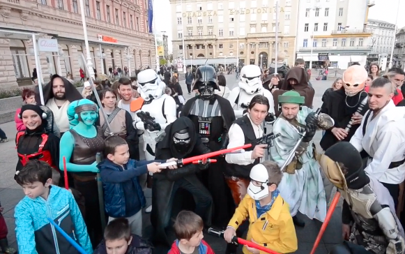 Sila je bila u Zagrebu: Darth Vaderi šetali glavnim trgom