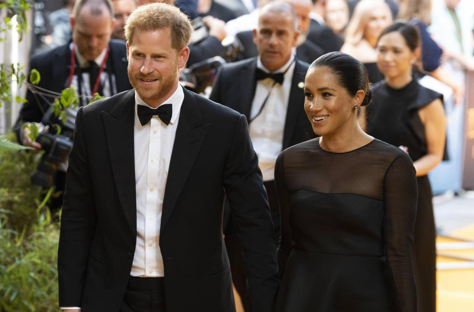 Prince Harry, Duke of Sussex and Meghan Markle, Duchess of Sussex attend THE KING LION European Premiere at Leicester Square. London, UK. 14/07/2019
