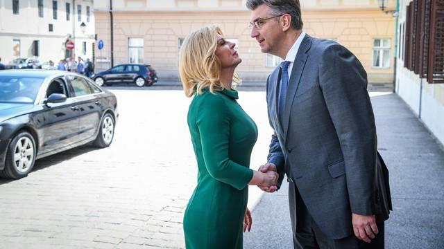 Srdačna dobrodošlica: Domaćin Plenki dočekao je predsjednicu