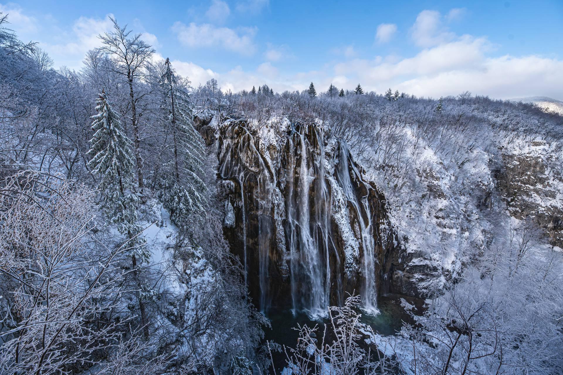 Zimska idila na Plitvicama