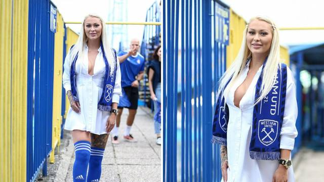 Češka navijačica u centru pažnje na Maksimiru: Očarala prisutne