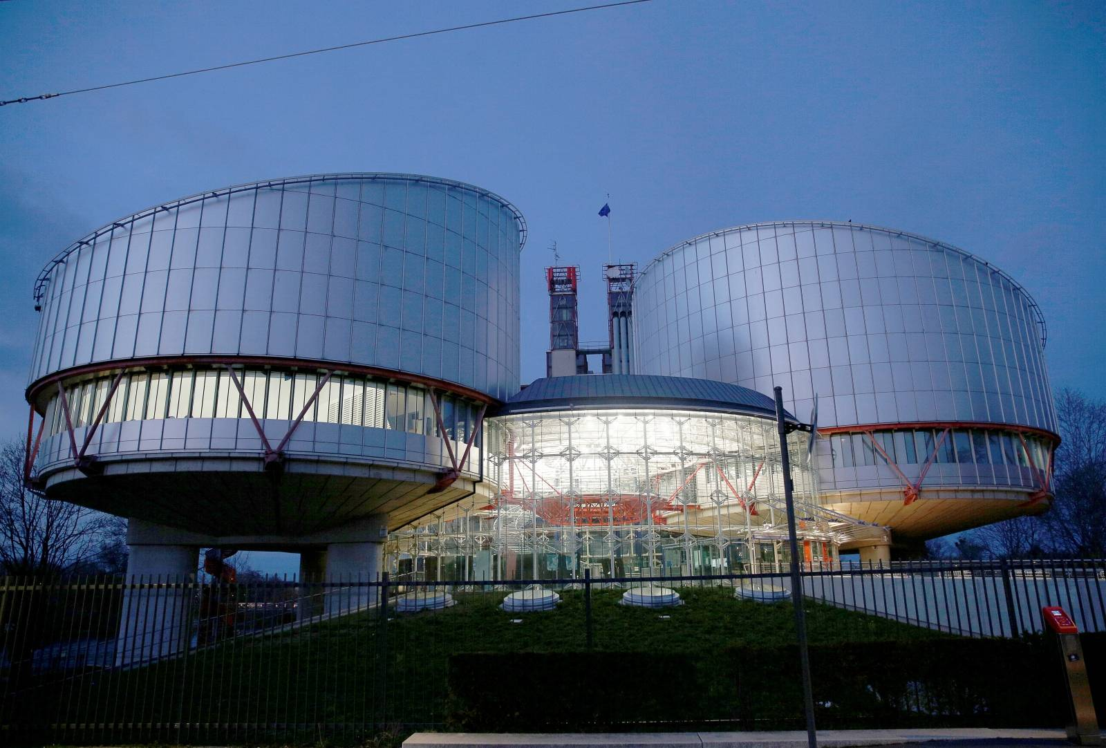 FILE PHOTO: The building of the European Court of Human Rights is seen in Strasbourg