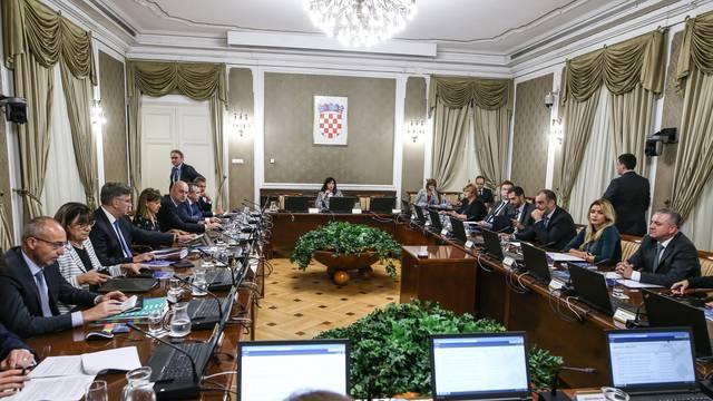 Zagreb: U Banskim dvorima održana 115. sjednica Vlade RH
