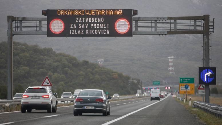 Jak vjetar zatvorio Paški most i A1 kod Svetog Roka za promet, subota će biti oblačna s kišom